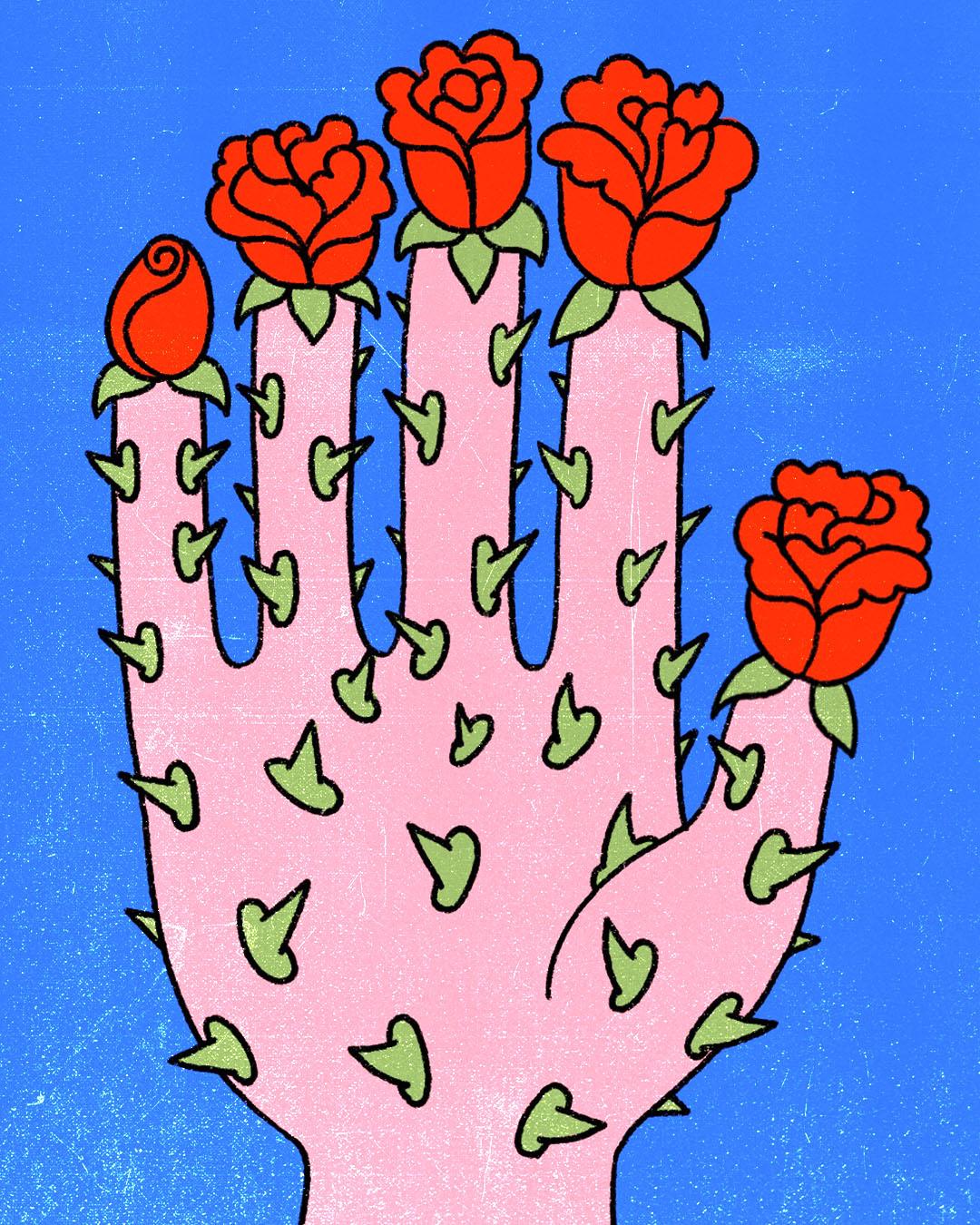 HAND roses instagram